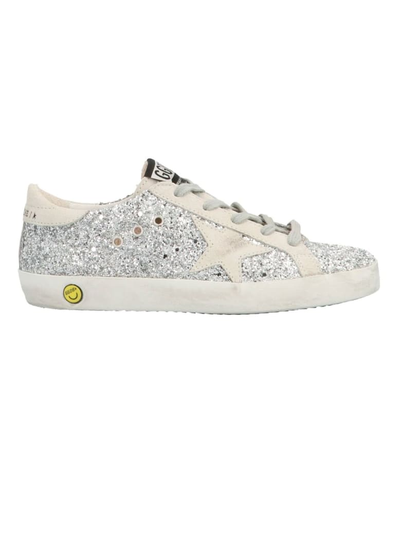 Golden Goose Superstar Glitter Sneakers - Argento