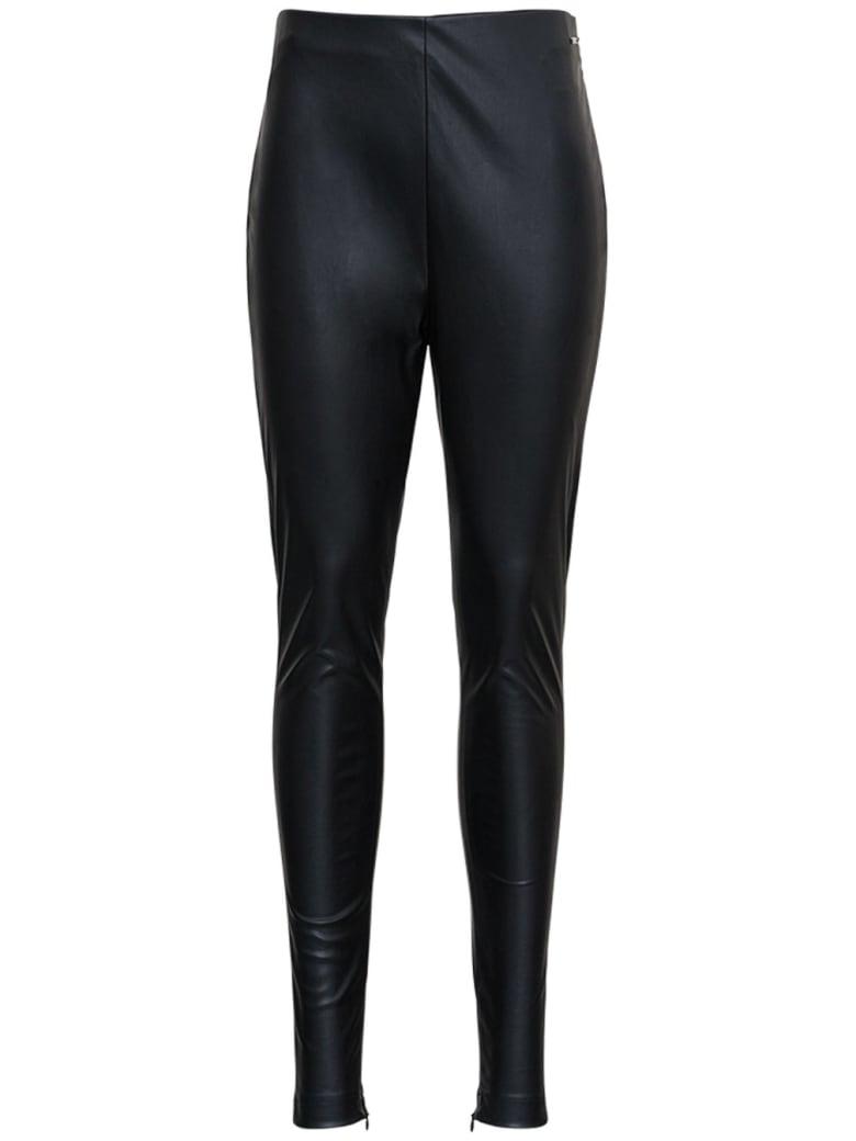 Liu-Jo Black Leatheret Leggings - Nero