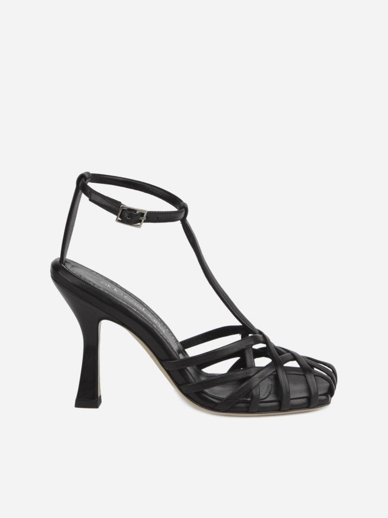 Aldo Castagna Lidia Sandals Made Of Leather - Black