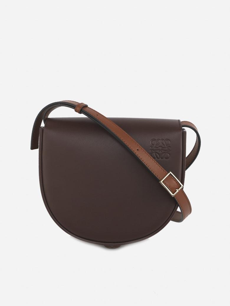 Loewe Heel Duo Leather Shoulder Bag - Burgundy