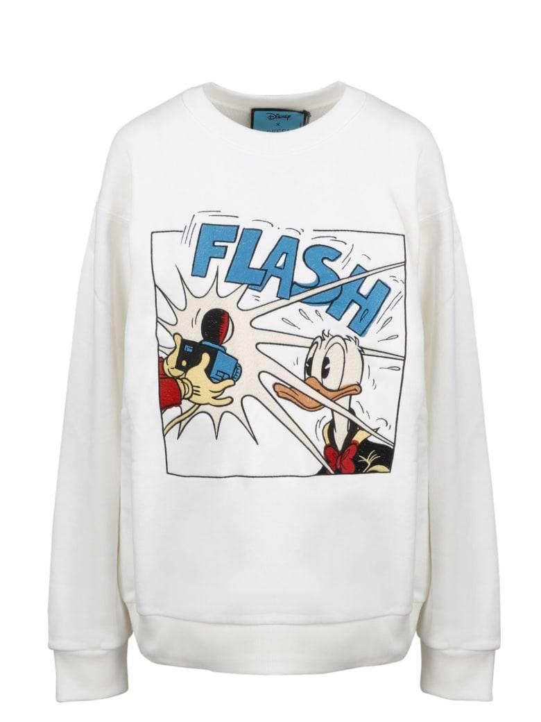 Gucci L S Cw Nk Sweatshirt - Bianco/Multicolor
