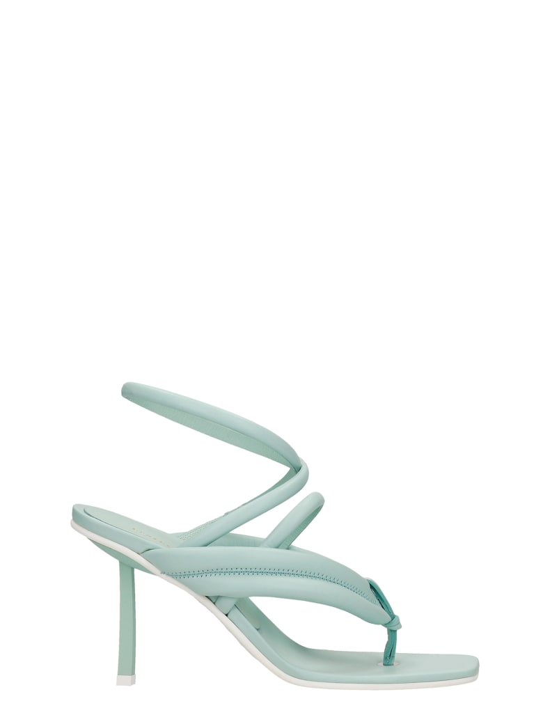 Le Silla Sandals In Green Leather - green