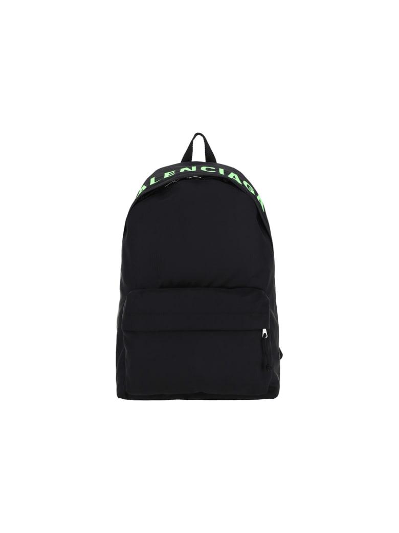 Balenciaga Backpack - Blk/blk/l fluo gree