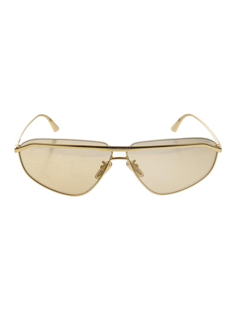 Balenciaga Woman Golden Bridge Navigator Sunglasses - Gold