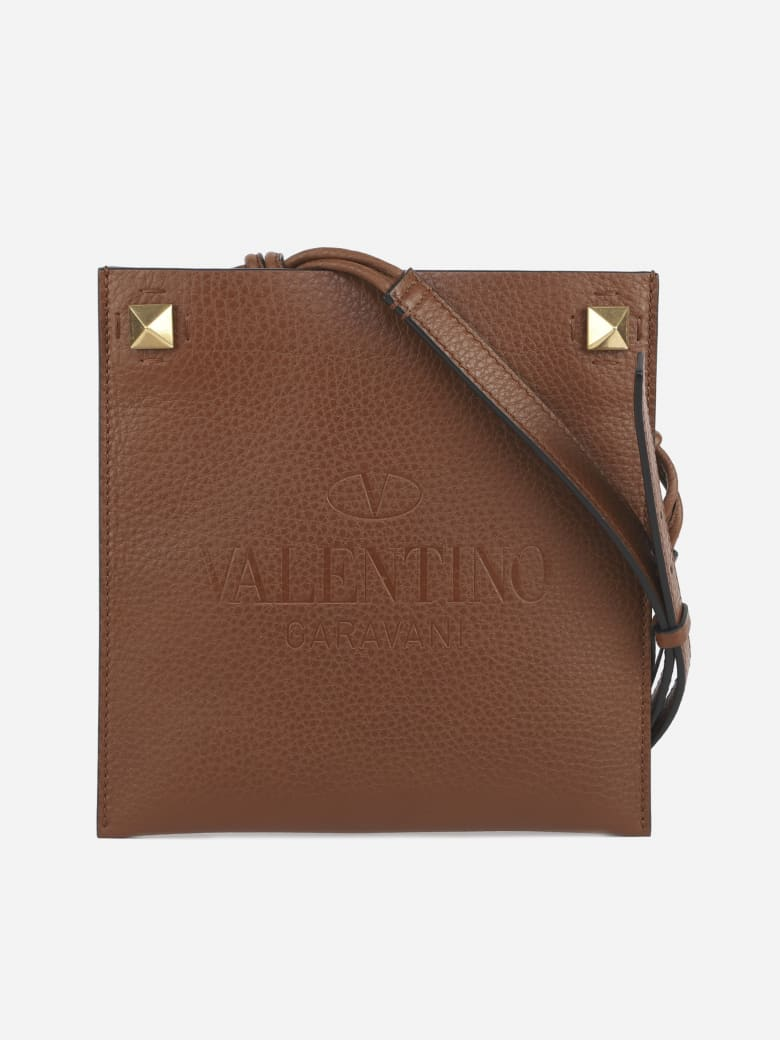 Valentino Garavani Shoulder Bag In Textured Leather - Saddlery