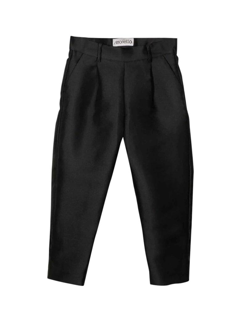 Simonetta Kids Black Trousers - Nero