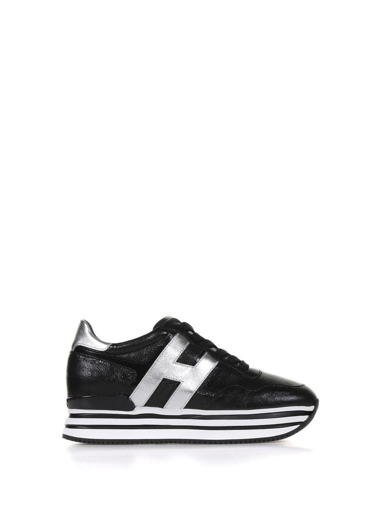 Hogan H222 Black - Silver Sneaker