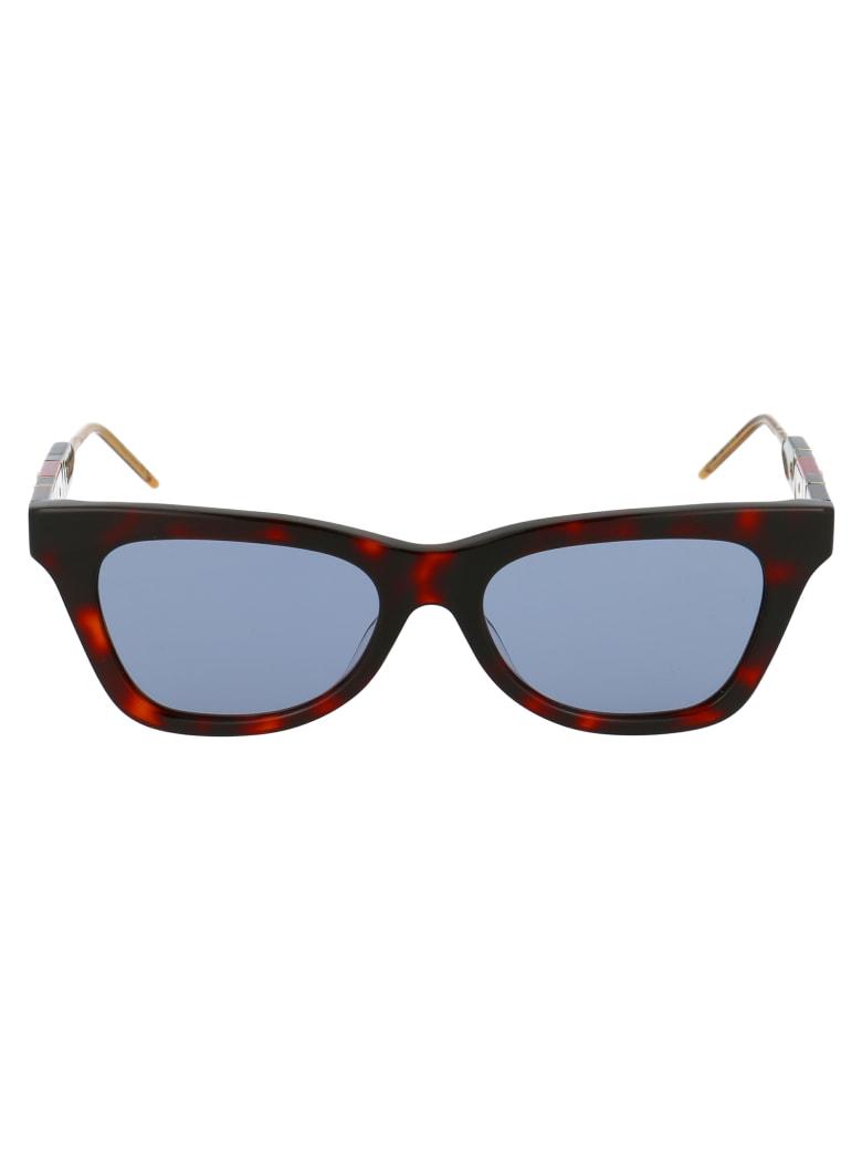 Gucci Gg0598s Sunglasses - 002 HAVANA HAVANA BLUE