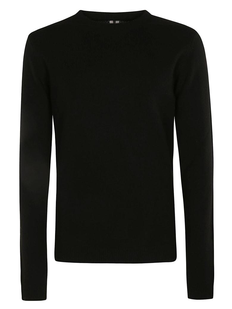 Rick Owens Round Neck Biker Sweater - Black