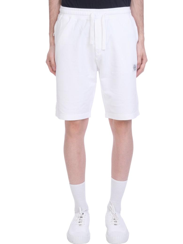 Stone Island Shorts In White Cotton - white