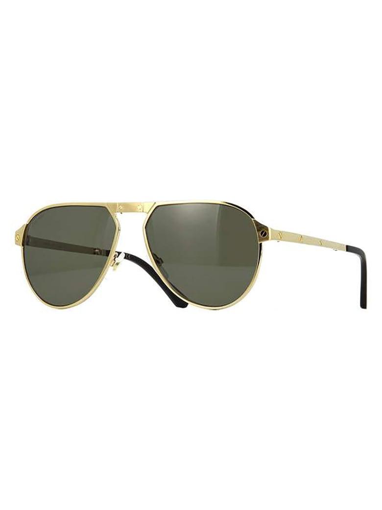 Cartier Eyewear CT0265S Sunglasses - Gold Gold Grey