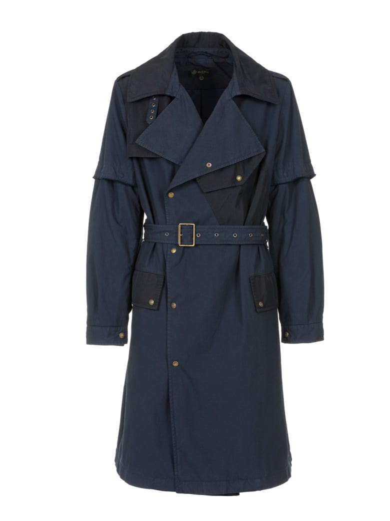 Mr & Mrs Italy Nick Wooster Capsule Unisex Trench In Cotton - NIGHT BLUE / BLUE