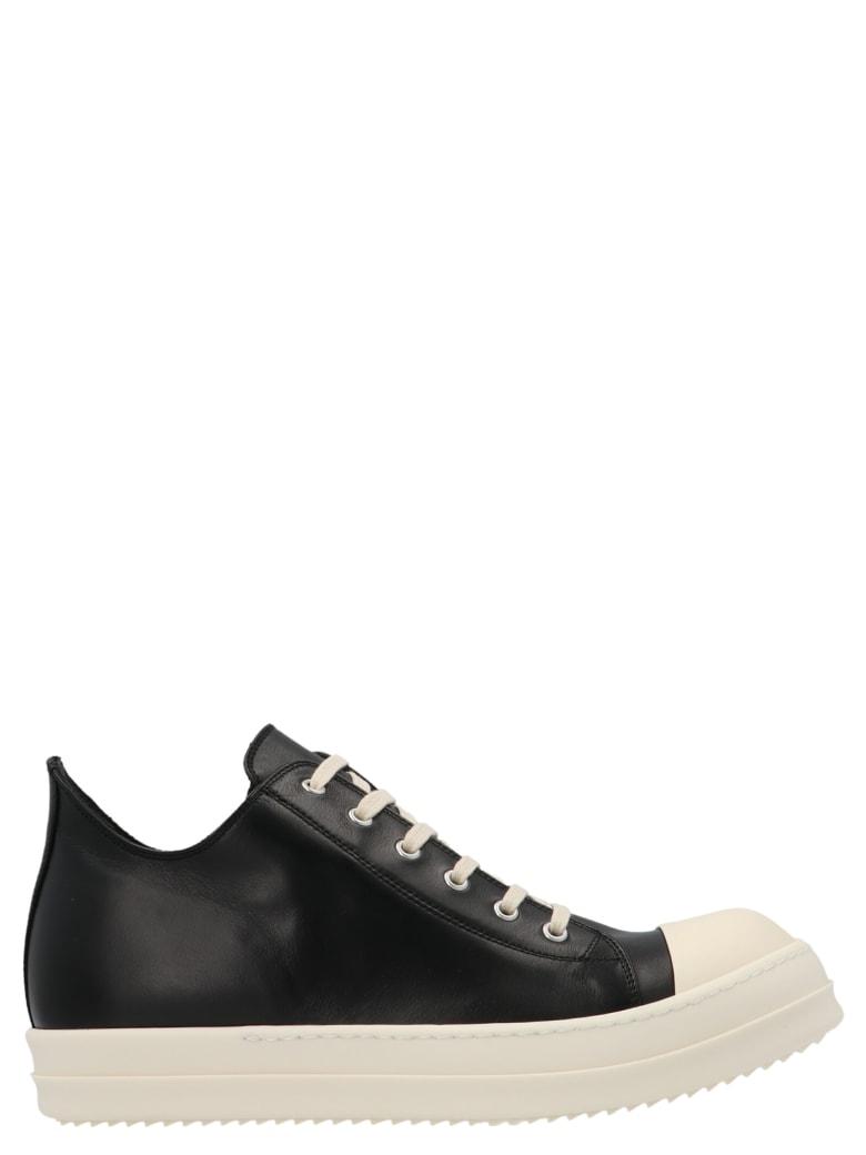 Rick Owens 'low Sneak' Shoes - Nero bianco