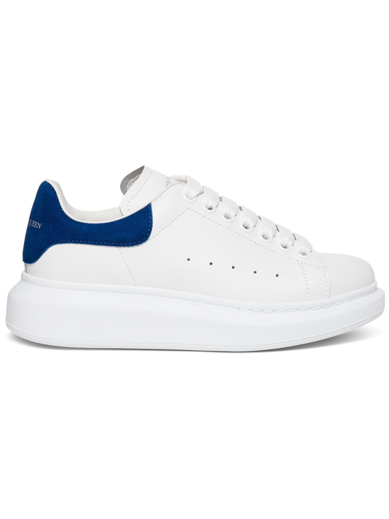 Alexander McQueen Leather Larry Sneakers - White