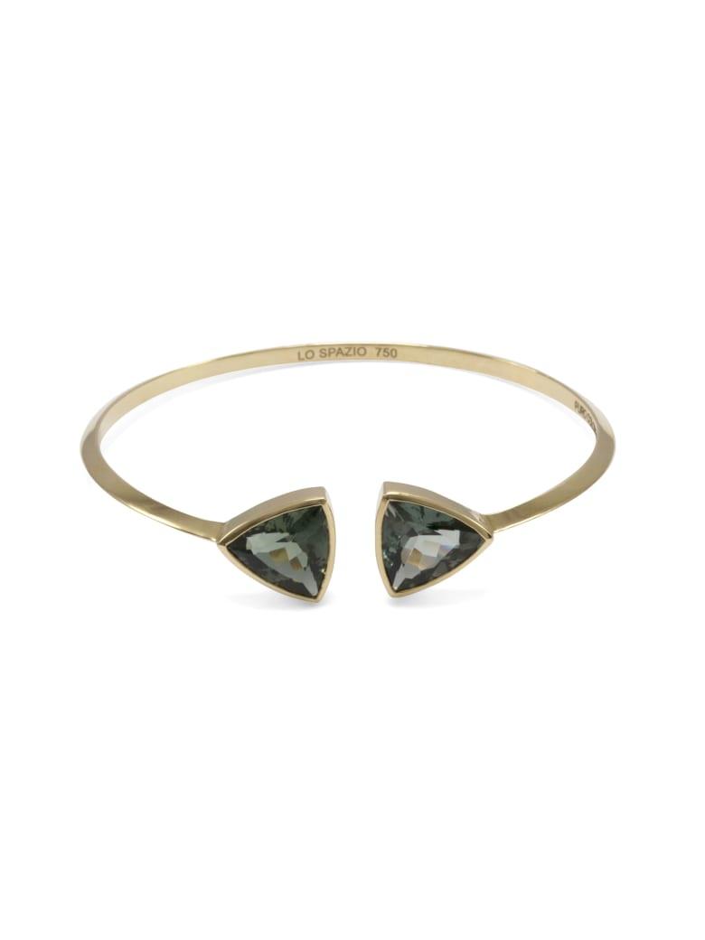 Lo Spazio Jewelry Lo Spazio Green Tourmaline Bangle - Green