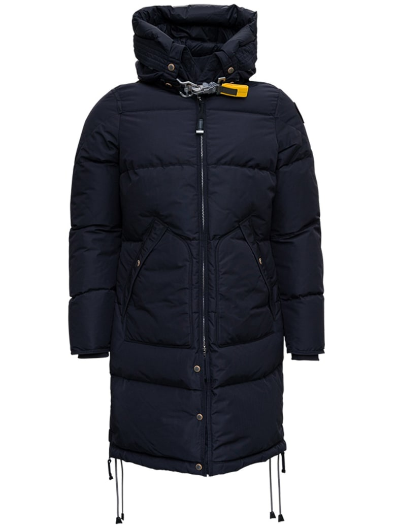 Parajumpers Black Nylon Down Jacket With Hook Detail - Black