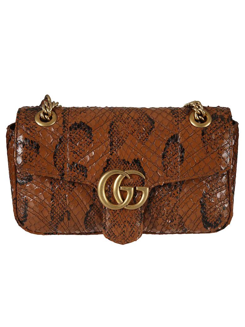 Gucci Gg Marmont Shoulder Bag - Beige
