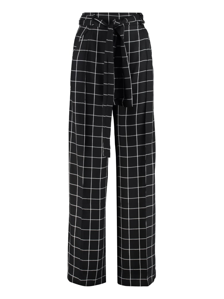 Mother Of Pearl Wendy High-waist Wide-leg Trousers - black
