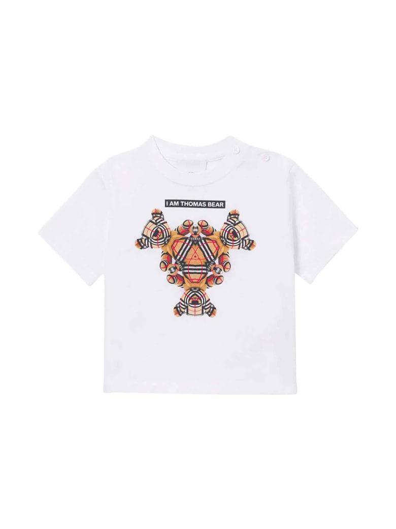 Burberry White Newborn T-shirt - Bianco