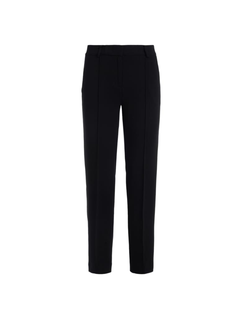 Michael Kors Trousers In Black Crêpe - NERO