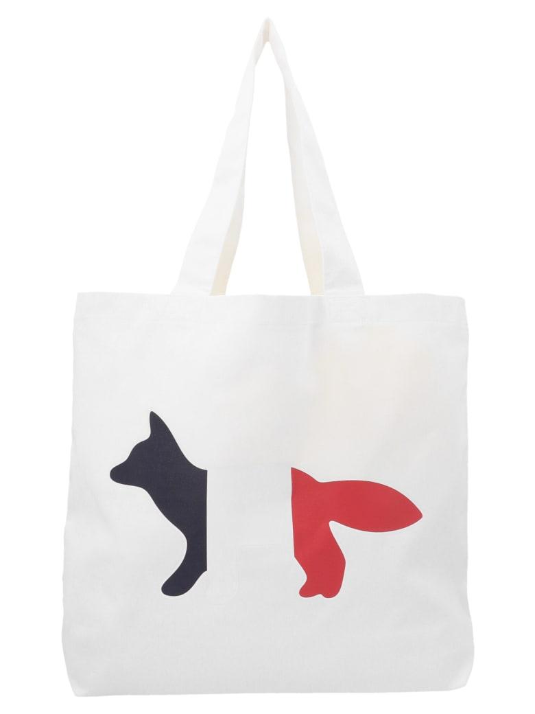 Maison Kitsuné 'tricolor Fox' Bag - White