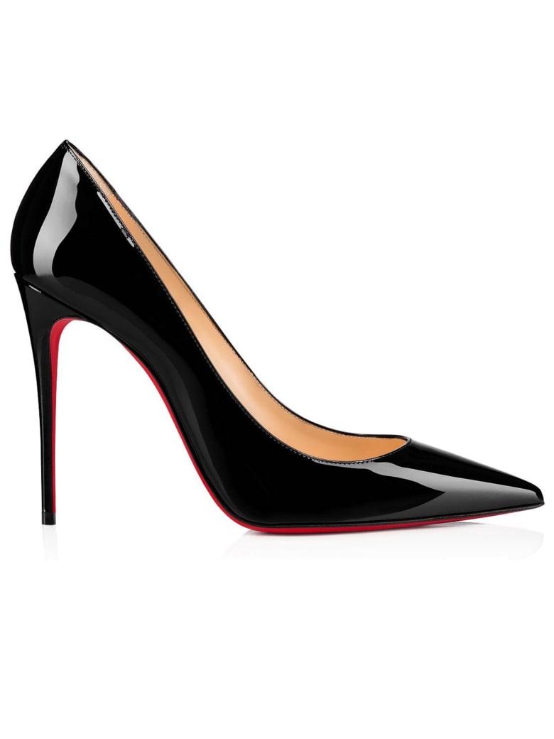 Christian Louboutin Black Patent Kate 100 Pumps - BLACK