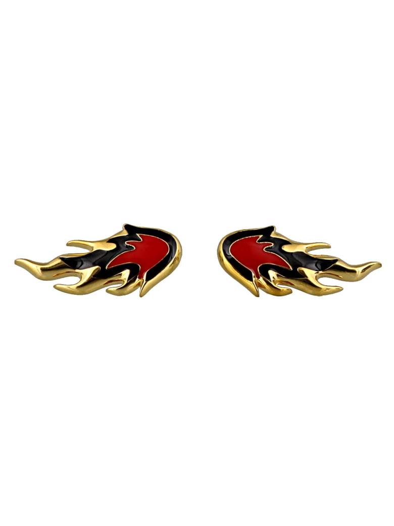AMBUSH Flame Earrings - Gold
