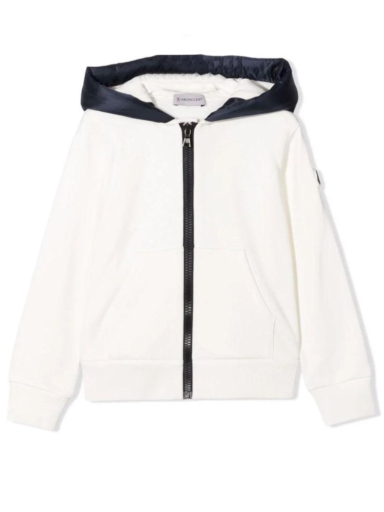 Moncler Cream Cotton Hoodie - Panna