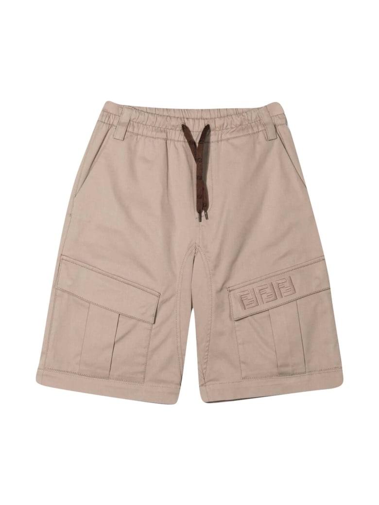 Fendi Beige Cargo Teen Shorts - Beige