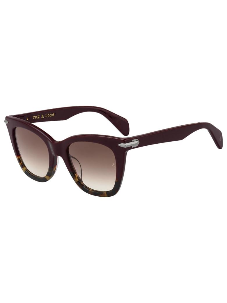 Rag & Bone RNB1029/G/S Sunglasses - O Black Havana
