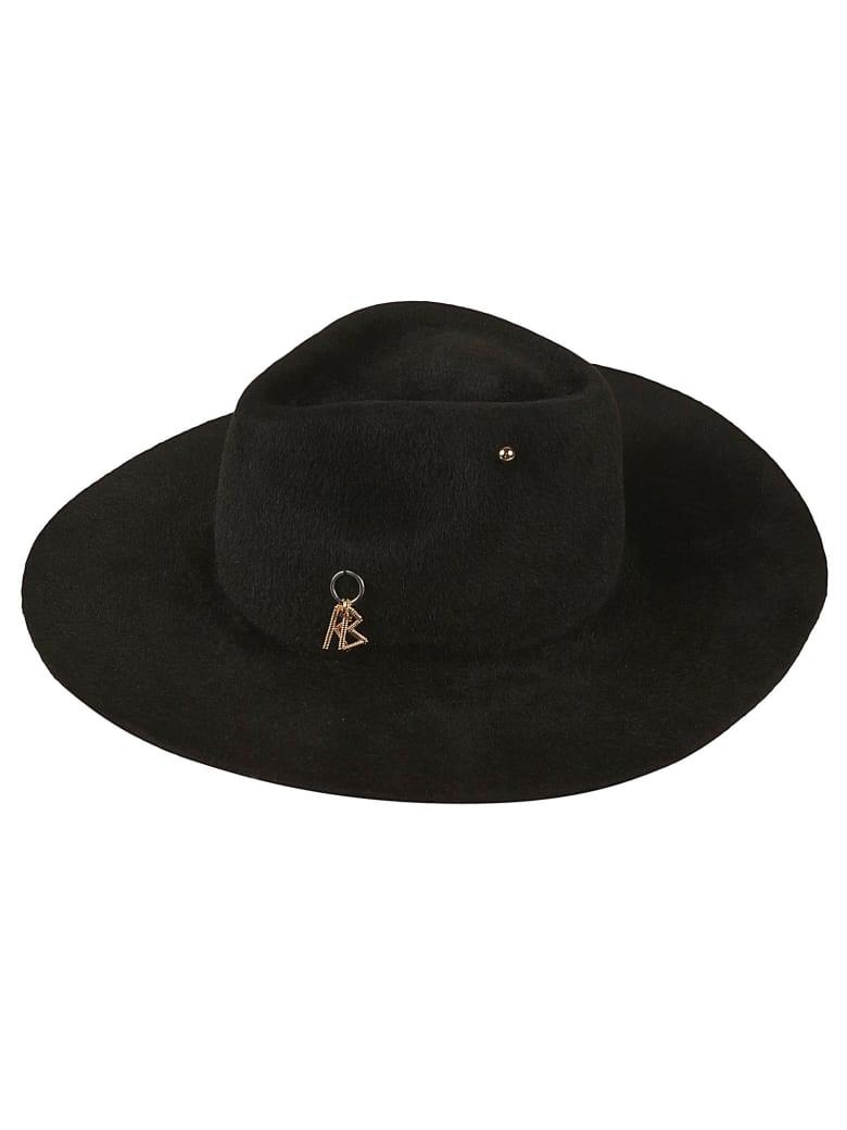 Ruslan Baginskiy Piercing Detail Logo Hat - Black
