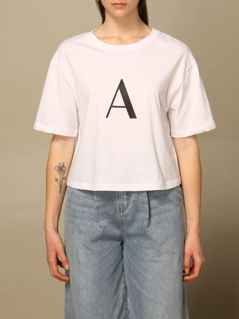 Armani Collezioni Armani Exchange T-shirt Armani Exchange Cropped T-shirt With Logo - White