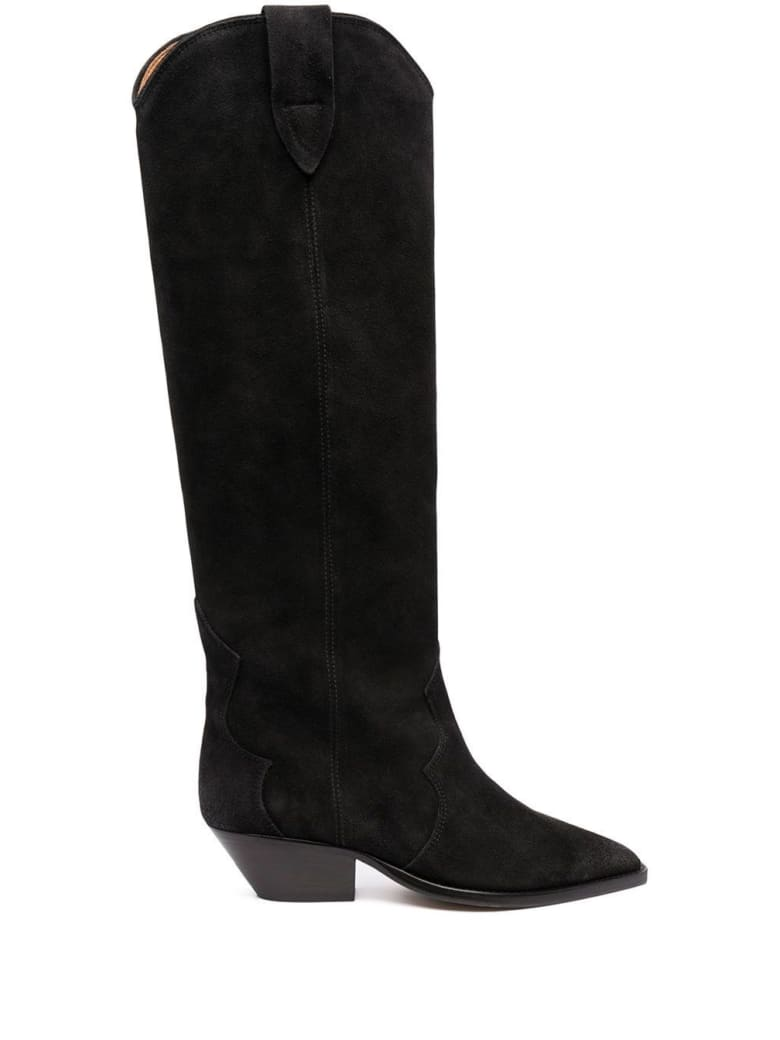 Isabel Marant Denvee Boots In Black Suede - Black