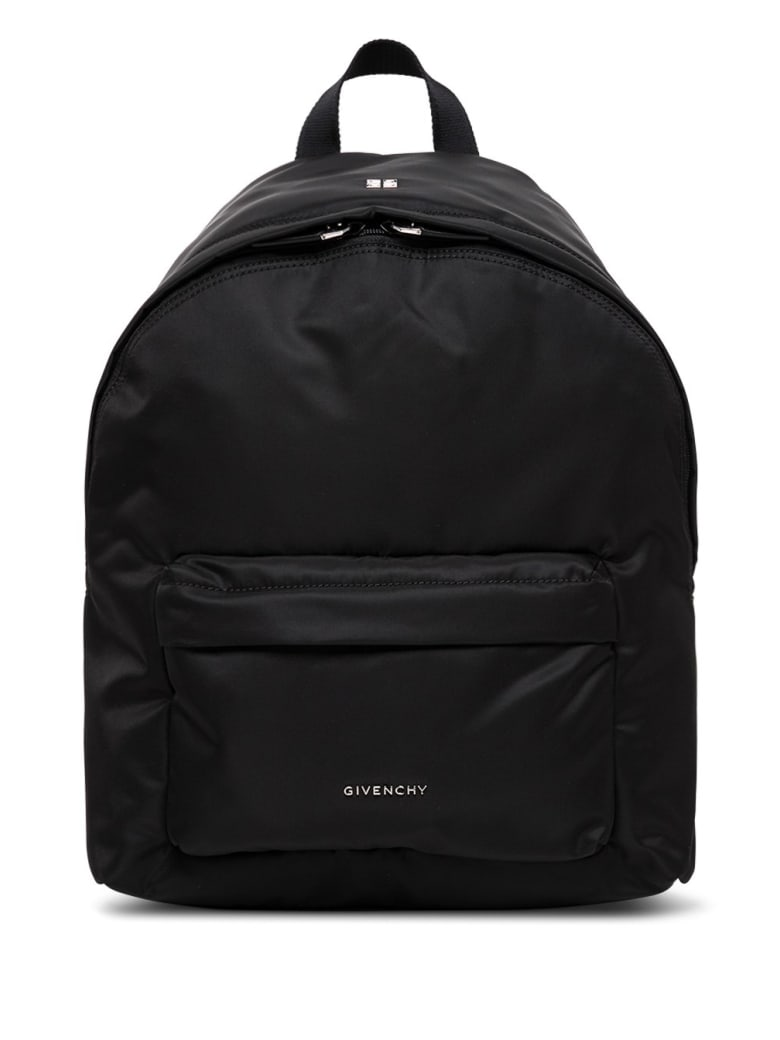 Givenchy Essential Backpack In Black Nylon With Logo - Black