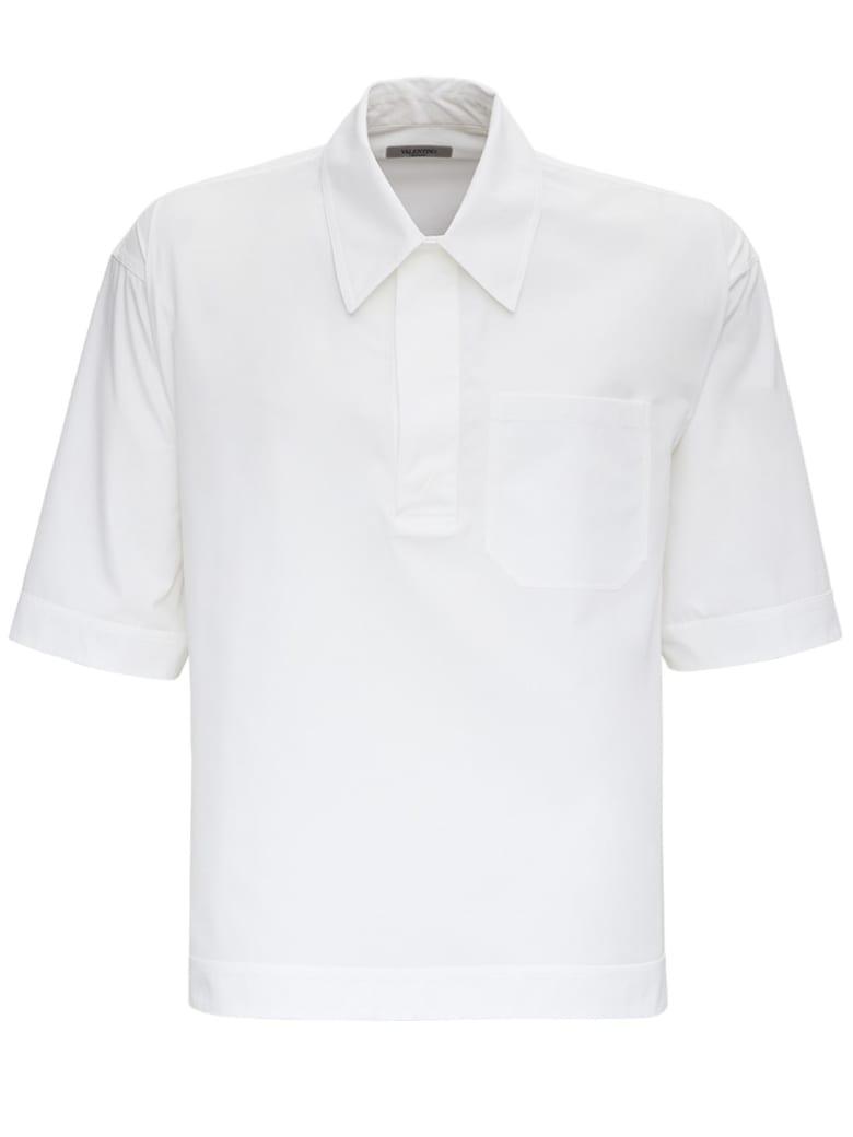 Valentino White Jersey Short Sleeves Shirt - White