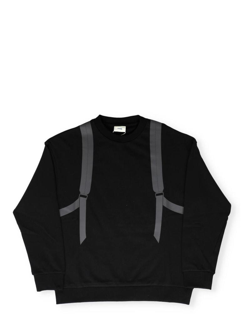 Fendi Printed Sweatshirt - BLACK+CURRY