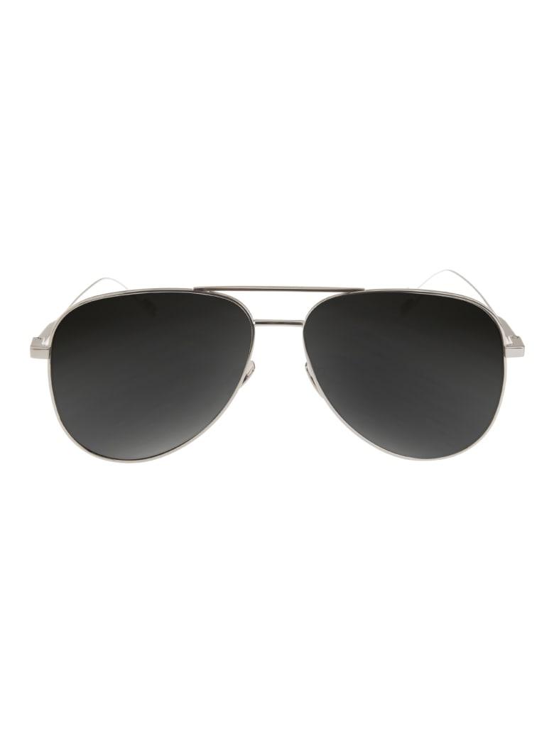 Saint Laurent 'classic 11' Aviator Sunglasses - Silver grey