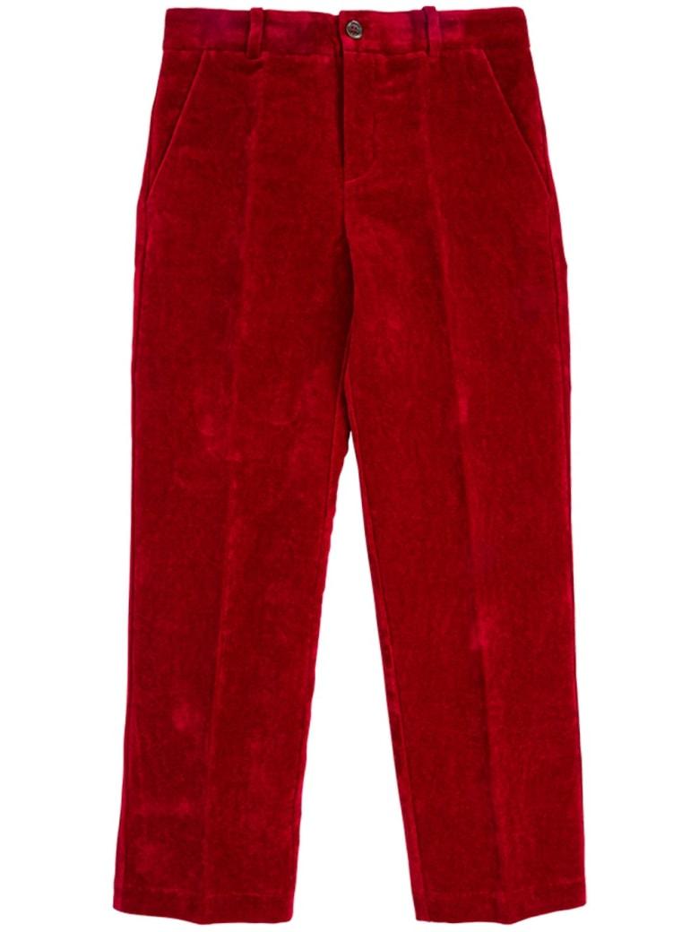 Gucci Bordeaux Velvet Trousers - Red