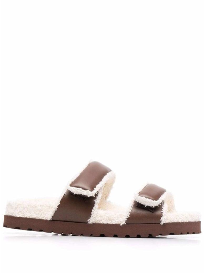 GIA BORGHINI Flat Sandals - Brown