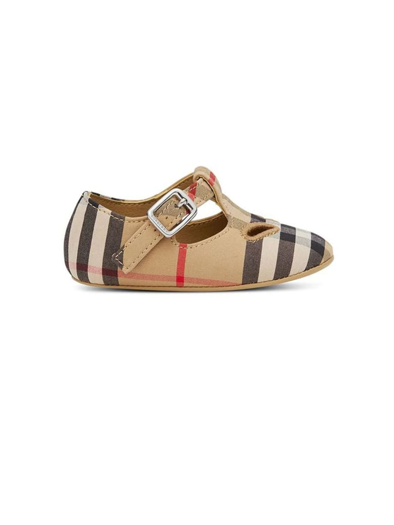 Burberry Vintage Check-print Crib Shoes - Check