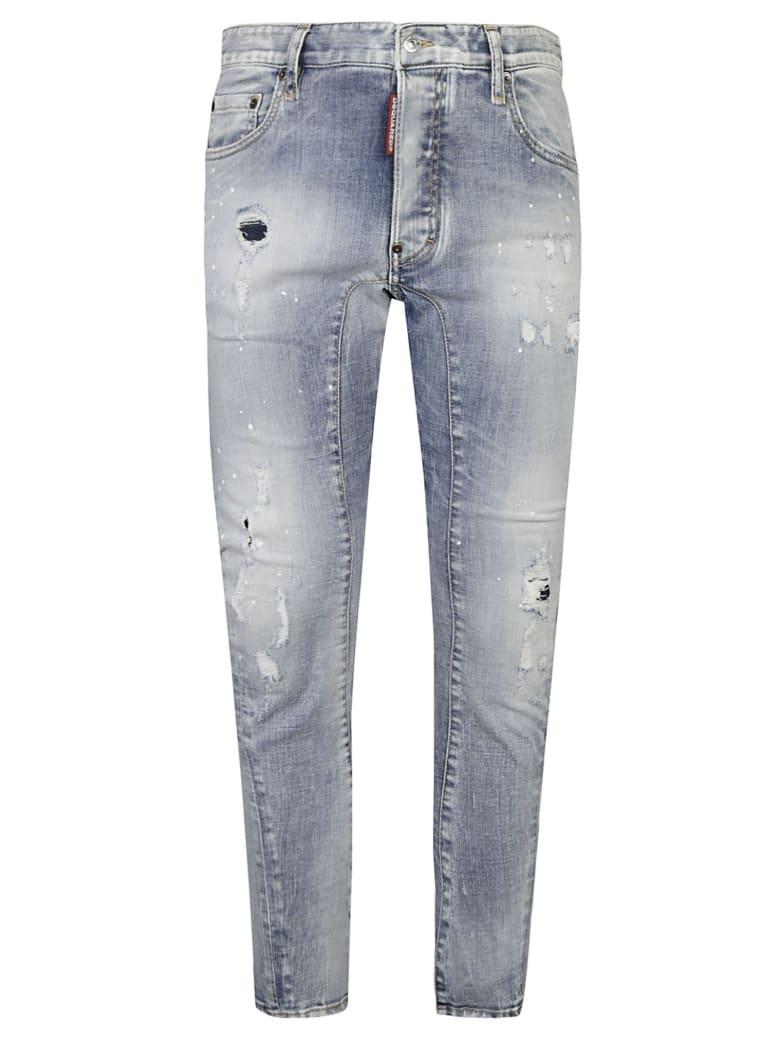 Dsquared2 Tidy Biker Jeans - Navy