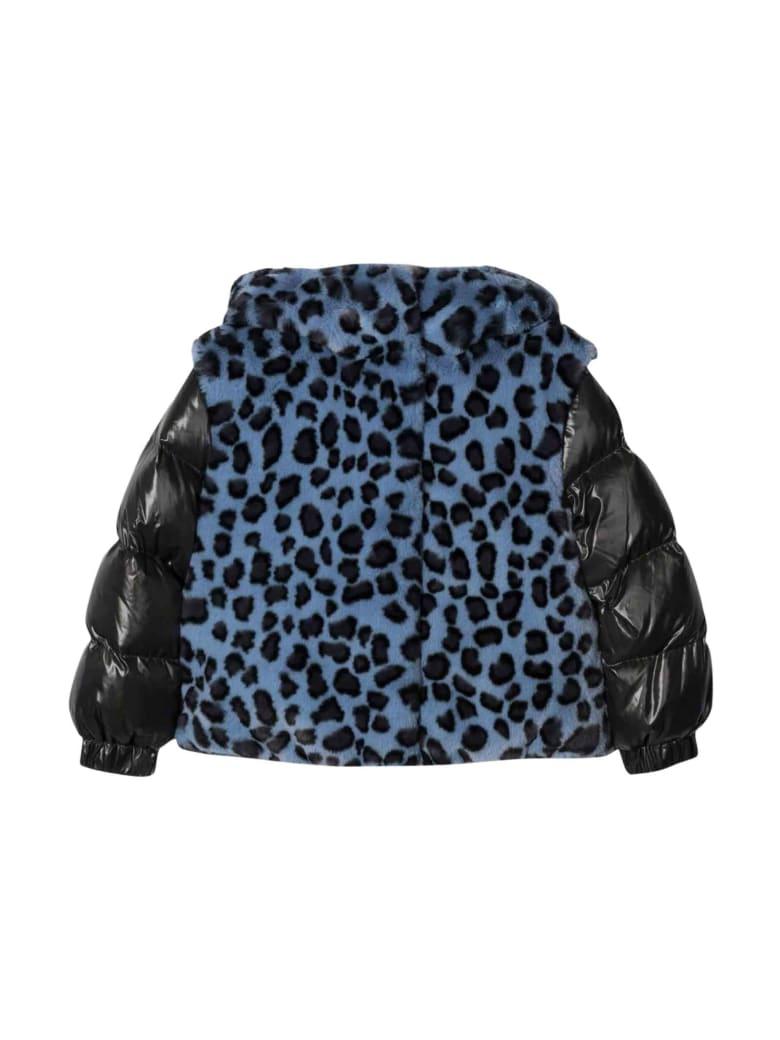 Moncler Blue Moncler Enfant Girl Down Jacket - Maculato