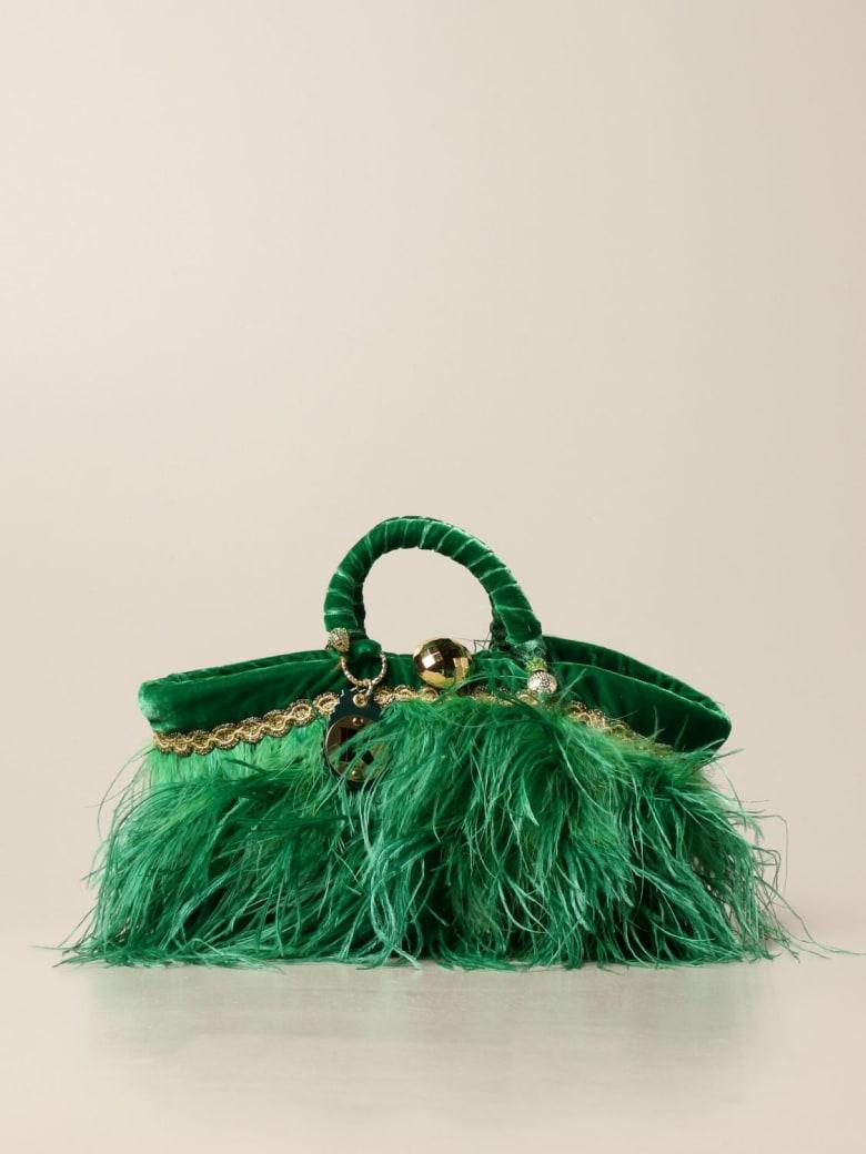 Sikuly Mini Bag Coffa Bag Piume Garden P. Sikuly With Feathers - Multicolor