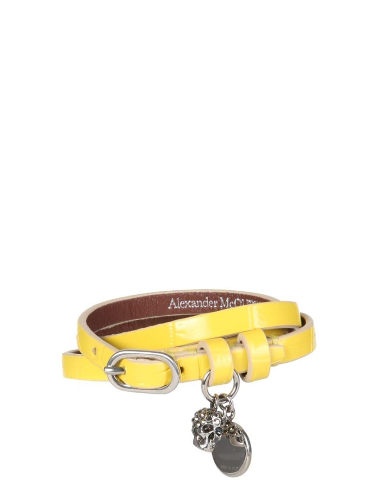 Alexander McQueen Double Turn Bracelet - GIALLO