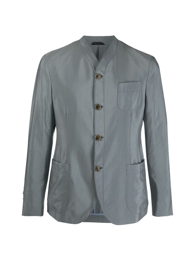 Giorgio Armani Woven Blazer - El Grey