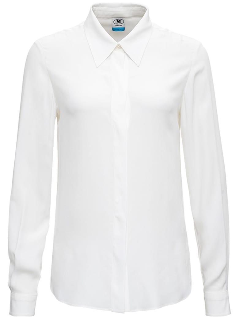 M Missoni White Silk Blend Shirt - White