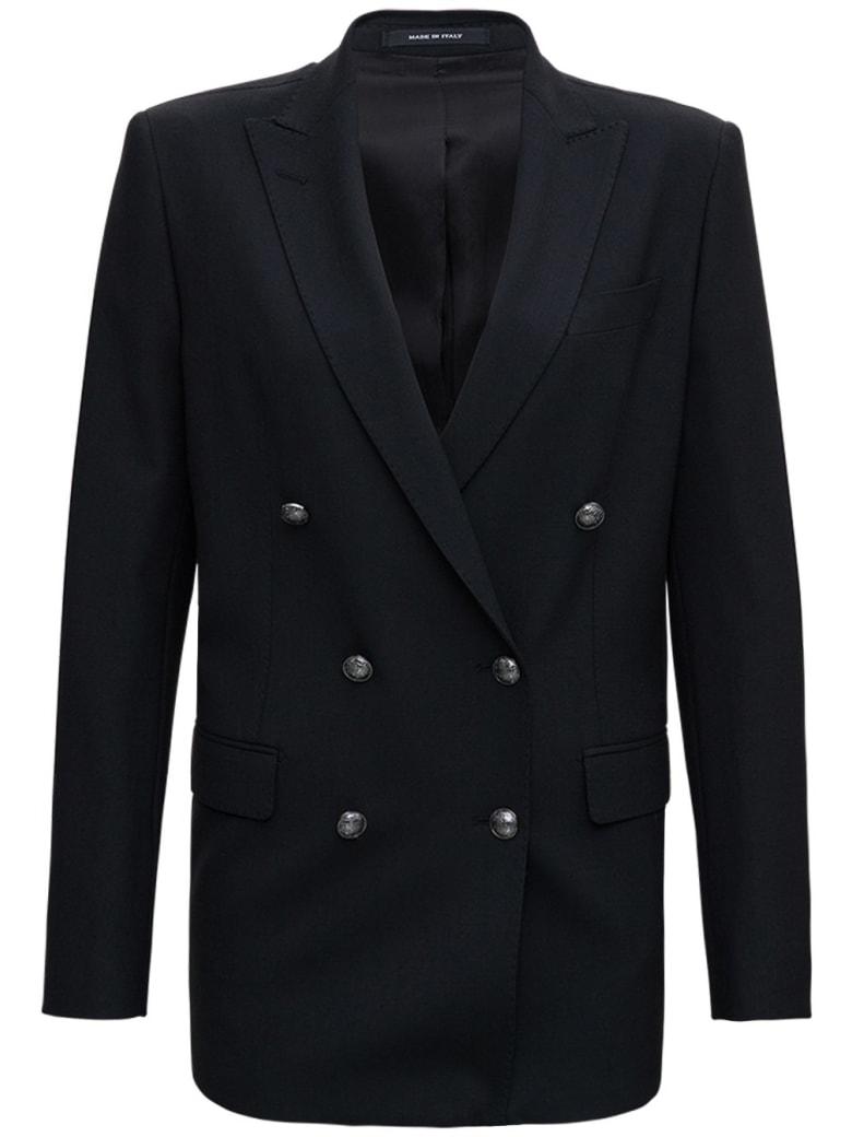 Tagliatore Double-breasted Jasmine Blazer In Wool Blend - Black