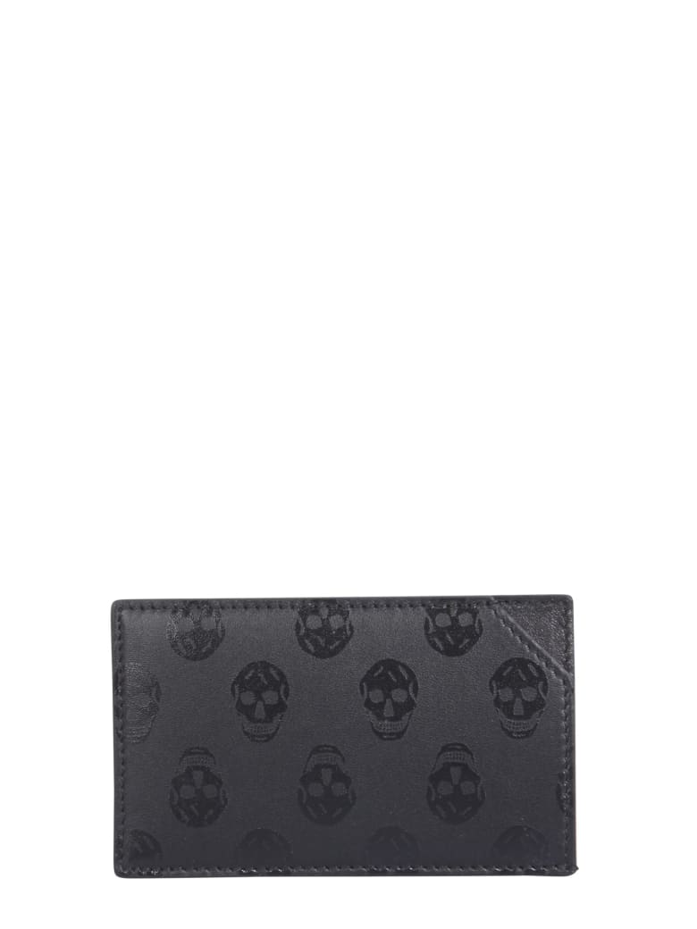Alexander McQueen Leather Card Holder - Black