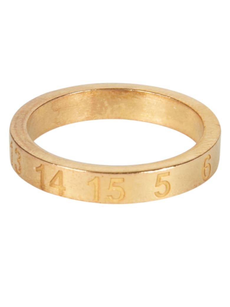 Maison Margiela Carved Number Ring - Gold