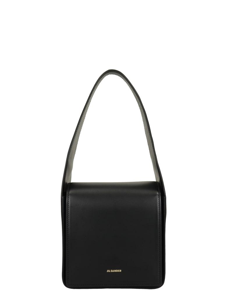 Jil Sander Sling Small Bag Shoulder Bag In Black Leather - black